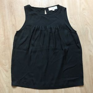 LOFT black sleeveless blouse